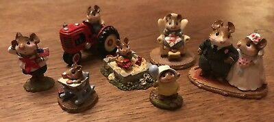 Lot of 7 retired Wee Forest Folk - Collection with WFF Boxes m-206 GREAT PRICE!