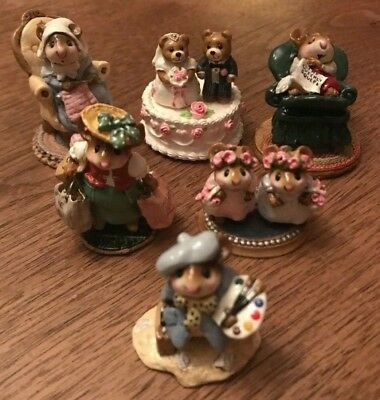 Lot of 6 retired Wee Forest Folk - Collection with WFF Boxes
