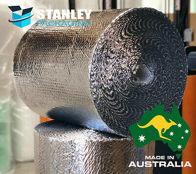 Metalised Foil Insulation Bubble Cushioning Wrap 500mm x 50M temperature control