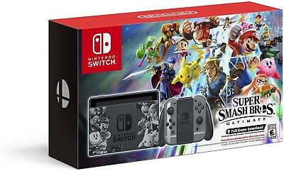 *NEW*  Nintendo Switch Super Smash Bros Ultimate Console Bundle