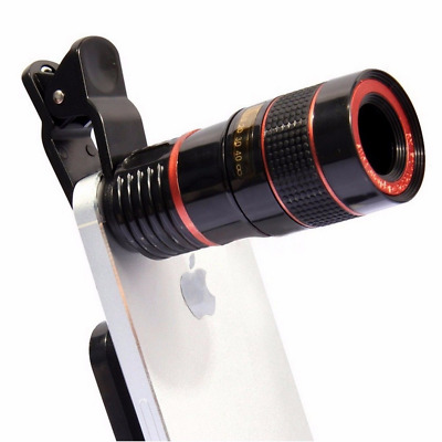 12x Optical Zoom Clip-on HD Telescope Camera Lens For Universal Phone lotDT