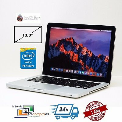 "Portátil Laptop MacBook Pro Mediados 2010 13,3"" Intel Core 2 Duo P8600 4GB 250GB"