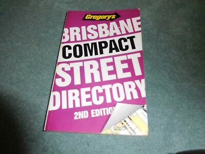 BRISBANE Compact Street Directory by Gregory's 1990
