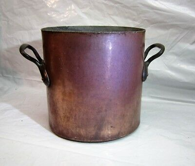 Large Antique E. Dehillerin Copper Saucepan Pot Paris France Cookware