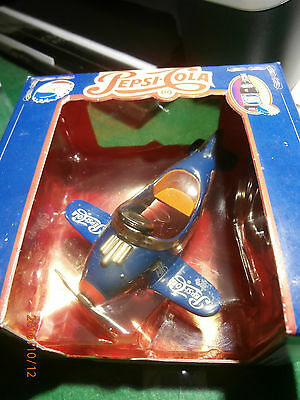 PEPSI COLA PEDAL PLANE - Die Cast Body, Moving Airplane Parts, Replica Coll. MIB