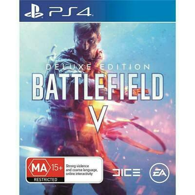 BATTLEFIELD V Deluxe Edition - MA15+ - EA - AUS- 5- Playstation 4 PS4 (Like New)