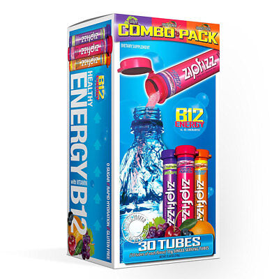 Zipfizz Healthy Energy Drink Mix, Variety Pack, 30 Tubes Combo Pack
