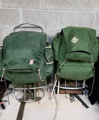 2 Lot Vintage Backpacks REI Co-Op External Frame Hiking Pack w Jansen Pack a8d2a3404f