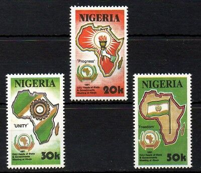 Nigeria 1991 African Unity of Heads of State MNH set 607-609