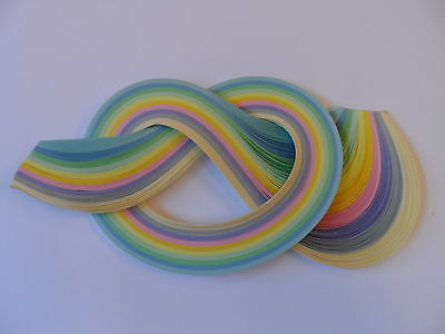Quilling Paper 3mm, 175 strips -  Pastel shades