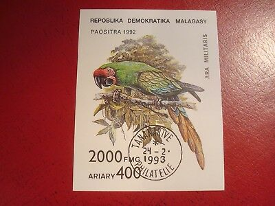 Madagascar - 1992 Parrot - Minisheet - Unmounted Used Miniature Sheet