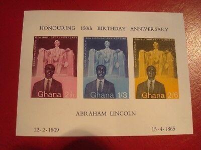 Ghana - 1969 Abraham Lincoln - Minisheet - Unmounted Mint - Ex Condition