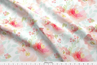 Indy Bloom Design Pink Plush Florals Baby Fabric Printed by Spoonflower BTY