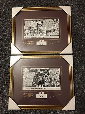 Johnnie Walker Memorable Moments From Ryder Cup History Limited Prints X 2 (New)