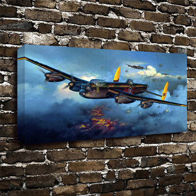 Apollo Lancaster fighters Plane Painting Art Print Canvas Home Wall Decor 12x20