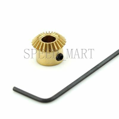 0.5M20T Metal Umbrella Tooth Bevel Gear Helical Motor Gear 3/4mm Bore 3mm Width