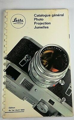 Leitz LEICA Catalogue Photo projection Jumelle 1969