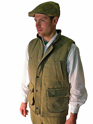 ae5c82be00ee3 Campbell Cooper Men's Tweed Shooting Riding Hunting Waistcoat Green New