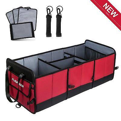 Flagpower Car Boot/Trunk Organiser with Straps Extra Large Foldable Heavy Duty