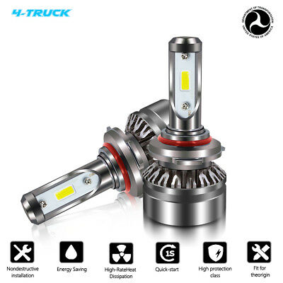 9005 HB3 LED Headlight Bulb for 2016 2017 Ram 1500 2500 3500 w/Projector 6500K