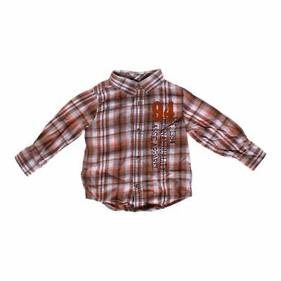 Old Navy Boys Button-up Shirt, size 2/2T,  brown,  cotton