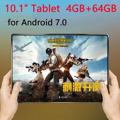 "10.1"" 64G Tablet PC Android 7.0 Octa Core 2Ghz WIFI 2SIM Games IPS Phablet"