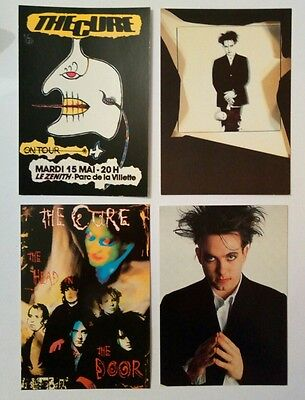 4 carte postale The Cure Robert Smith vintage