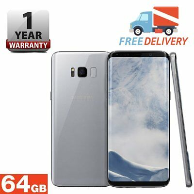 SAMSUNG GALAXY S8 64GB Android Mobile Phone Unlocked 4G Silver Grade A++