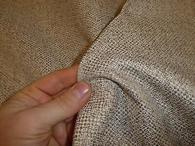 Oatmeal Beige - Weave Upholstery Fabric ( NEXT - HOUSE TEXTURED DARK NATURAL)