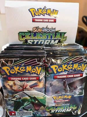Pokémon Sun and Moon Celestial Storm Booster Packet (4 Packs Supplied)