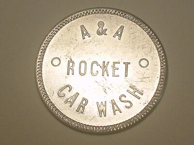(Ambridge, PA) Car Wash Token - A & A Rocket Car Wash