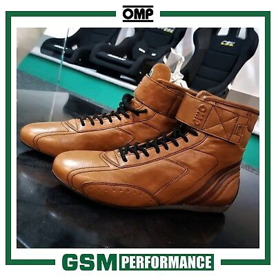 Omp Carrera High Racing Shoes - Light Brown - Size Eu 44/uk 9.5