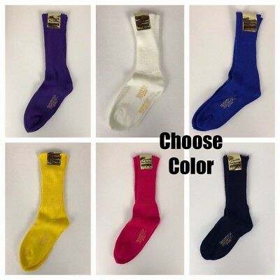1960s Long Socks / Choose Color / Unworn Long Acrylic Nylon Women's M/L