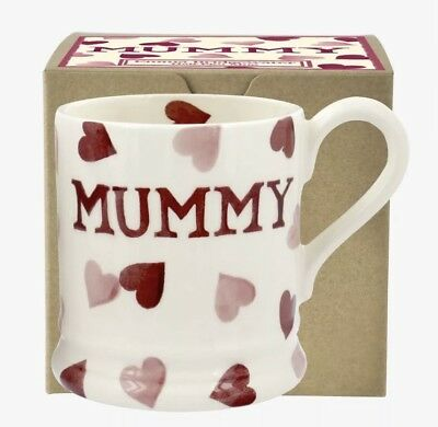 Emma Bridgewater Pink Hearts Mummy 1/2 Pint Mug New & Boxed