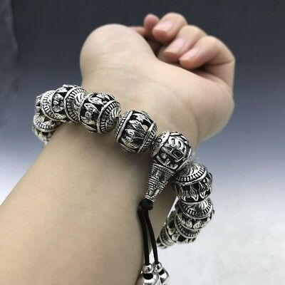 Old Chinese  Miao Silver Handmade Twist-Style Creative Dragon Bracelet