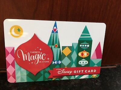 Disney Collectable Gift Card NV Mint Holiday Magic Small World Collectible