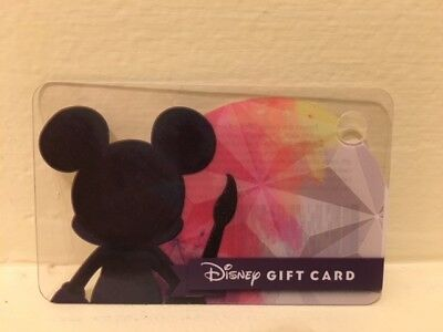 Disney Gift Card NCV collectable only 2018 Festival of the Arts w/o band Mickey