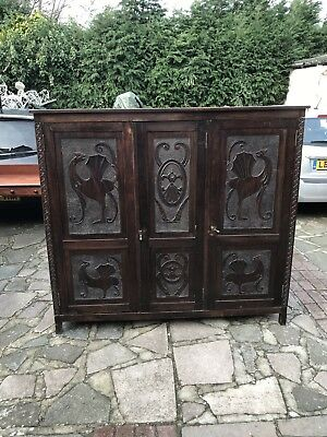Carved Antique Mahogany Cabinet