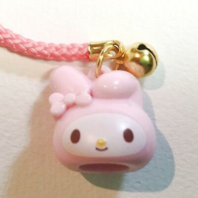 [New] SANRIO KAWAII My Melody Charm Mascot Netsuke Strap with bell from JAPAN