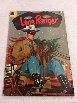THE LONE RANGER # 79,  CHRISTMAS Cover  January 1955 DELL COMIC