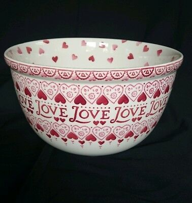 Emma Bridgewater Sampler Pink Hearts Large Mixing Bowl Rare