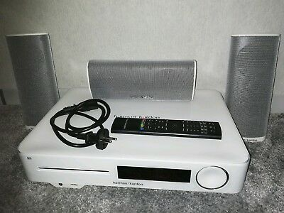 Harman Kardon BDS 577 weiss Blu ray player + 2 Rear und 1 Center Lautsprecher