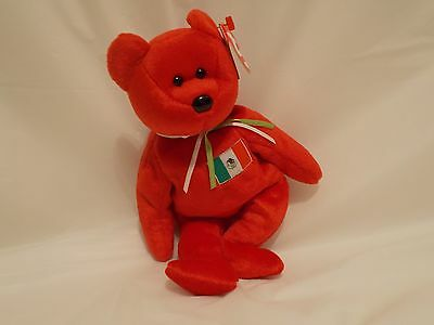 1999 TY  BEANIE BABIES *OSITO THE MEXICAN BEAR * with BOTH TAGS BOYS/GIRLS  3+