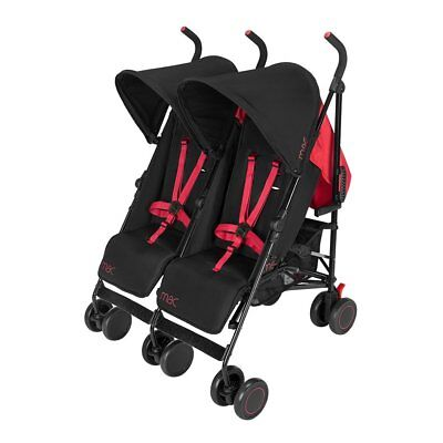 Maclaren T-01 Twin Baby Stroller Kids Double Pram Black Redstone