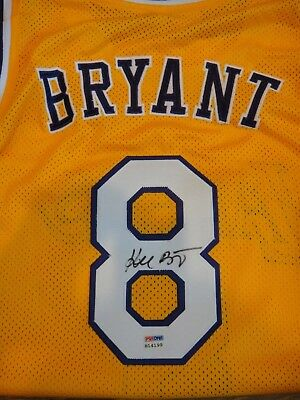 68527cc35e49 Kobe Bryant Signed Psa dna Certified Los Angeles Lakers  8 Home Jersey  Autograph