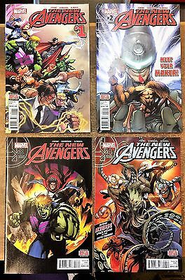 The New Avengers #1-18. Marvel Comics. 1St Print 2015. Vf+ / Near Mint Condition