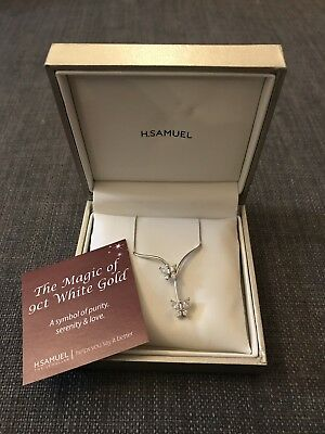 9ct White Gold Butterfly Necklace