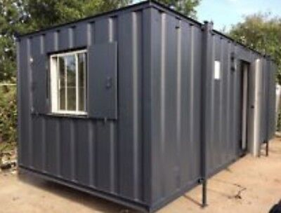 24ft X 9ft Anti Vandal Office Container With 2x Toilet And Kitchen