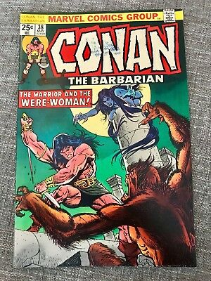 Conan The Barbarian #38 (May 1974, Marvel) Great Comic  book - 02498