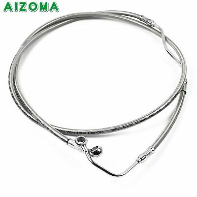 """Stainless 14"""" Brake Line Cable Kit For Harley Touring No ABS Models 2009-2013"""